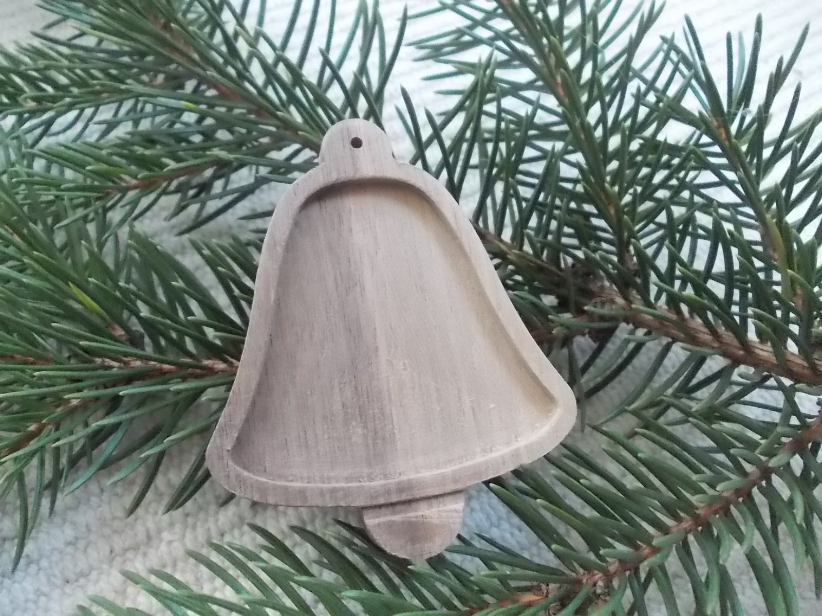 1 pc 27 unfinished wooden blank bell christmas tree decoration